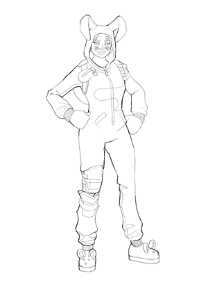 bunny brawler fortnite coloring page skin free download high resolution