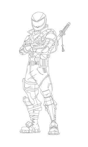 fortnite overtaker coloring page