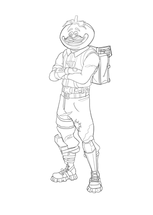 fortnite coloring page tomato head skin download free high resolution