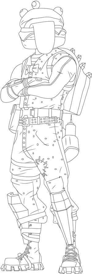 beef boss fortnite coloring page