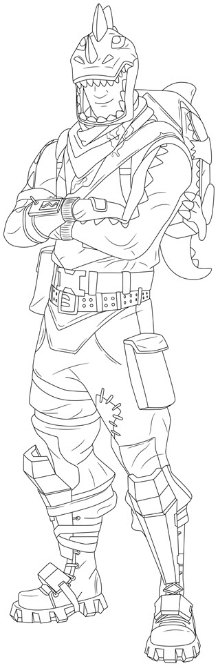 rex fortnite coloring page