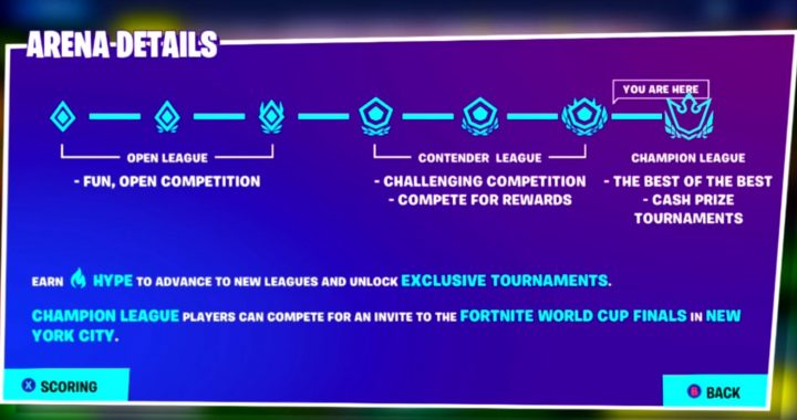 Fortnite's New Arena Mode – Everything You Need To Know About Ranked Mode in Fortnite