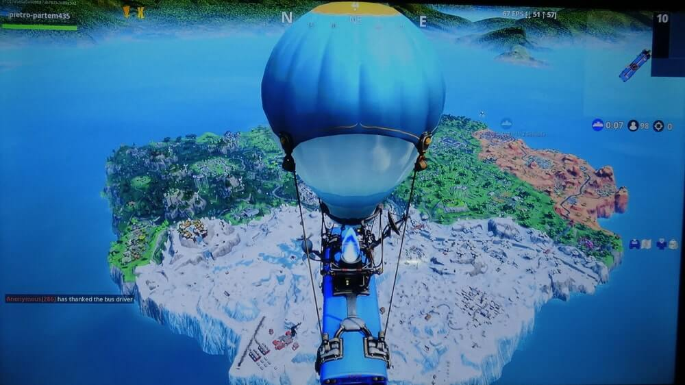 Fortnight video games play a close-up of footage